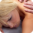 blond woman massage